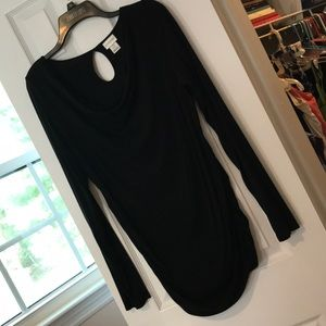 Cowell neck maternity blouse with side gathering